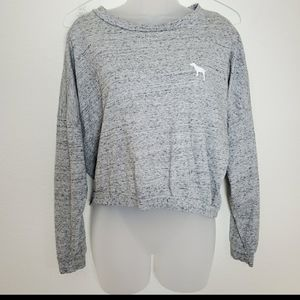 Pink Victoria secret heathered grey cozy sweater